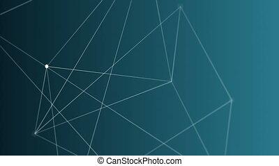 ligne, engendré, vidéo, numérique, géométrique