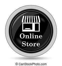 ligne, icône, magasin