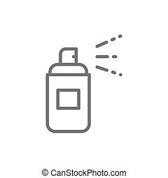 ligne, icon., aérosol, bouteille, boîte, pulvérisation