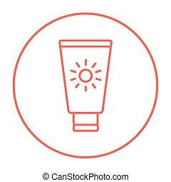ligne, icon., sunscreen