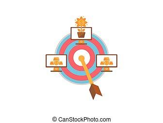 ligne, ilustration, argent, vecteur, informatique, concept, investissement, or