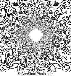 ligne, main, vecteur, texture, dessin, art