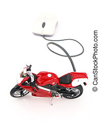 ligne, motocyclette, internet