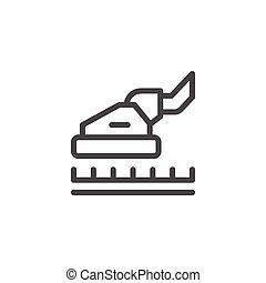 ligne, nettoyage moquette, icône