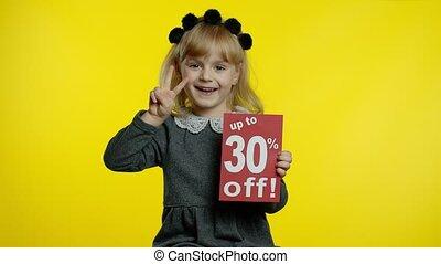 ligne, projection, girl, achats, 30, fermé, inscription, escomptes, enfant, haut, ventes, réjouir, cent