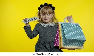 ligne, projection, girl, achats, inscription, texte, noir, vendredi, bas, enfant, prix, advertisement.