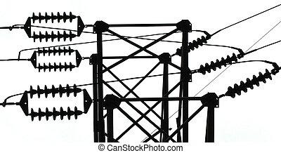 ligne, puissance, isolateur