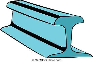 ligne rail, icône, icône, dessin animé