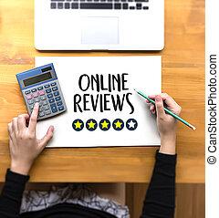 ligne, revue, inspection, apurer, revues, temps, évaluation, évaluation
