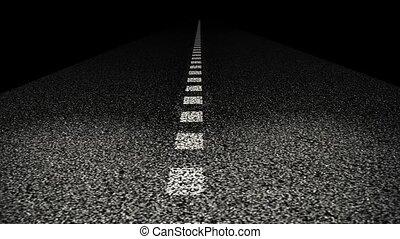 ligne, route, séparation, asphalted