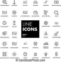ligne, set., icônes