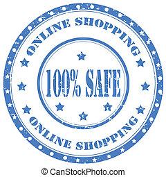 ligne, shopping-stamp