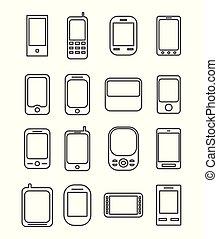 ligne téléphonique, icône