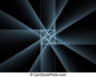ligne, topological, fond