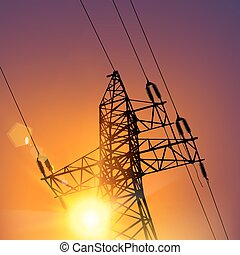 ligne transmission, électrique