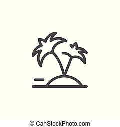 ligne, vacances, icône