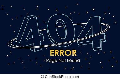 ligne, vecteur, espace, trouvé, page, 404, fond, erreur, pas, graphique