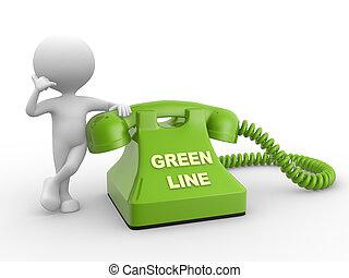 ligne, vert
