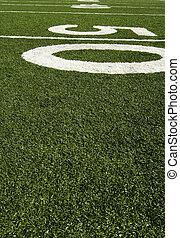 ligne, yard, cinquante