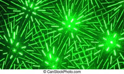 lignes, beaucoup, diffusé, en mouvement, laser