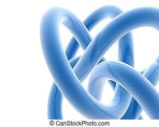 lignes bleu