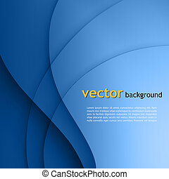 lignes bleu, lisser, torsade, arrière-plan., vecteur,...