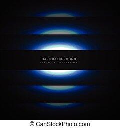 lignes bleu, néon, sombre, incandescent, fond
