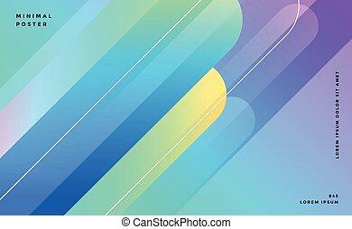lignes bleu, résumé, bannière, conception