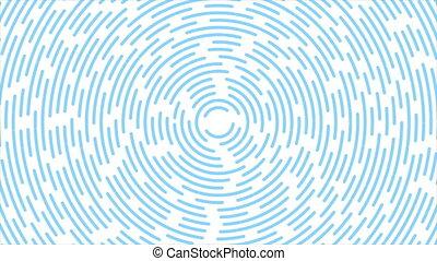 lignes, bleu, retro, circulaire, lumière, résumé, fond, ...