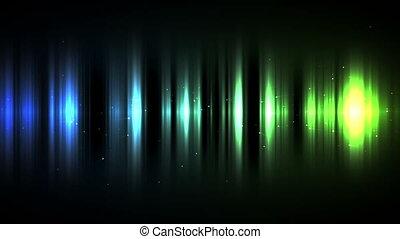 lignes bleu, vert, gradation