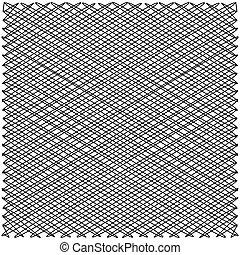 lignes, entrecouper, zigzag