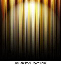 lignes, or, fond