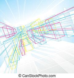 lignes, perspective, résumé
