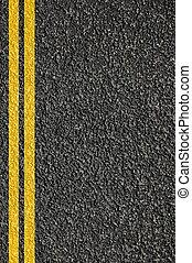 lignes, route, texture