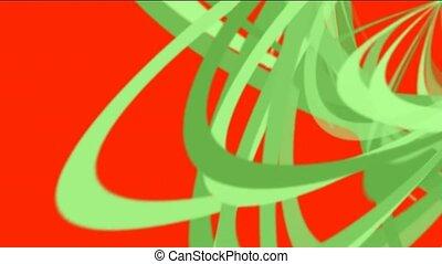 lignes, vert, spirale