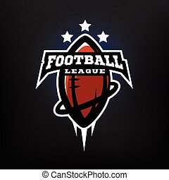 ligue, football américain, logo.