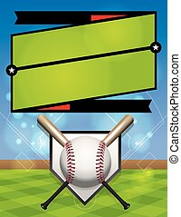 ligue, vecteur, base-ball, illustration