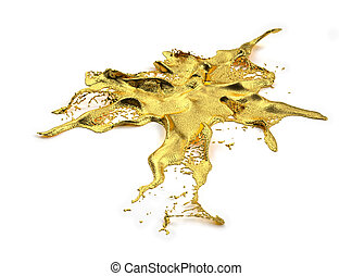 liguid, gold, spritzen
