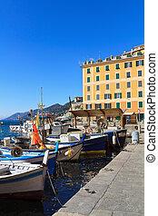 Liguria - harbor in Camogli