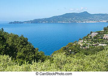 Liguria (Italy), Riviera di Levante, the coast between Genoa and La Spezia at summer