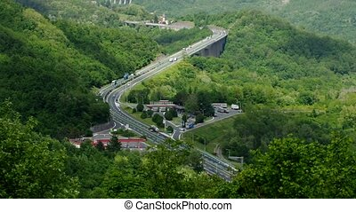 Ligurian Apennines freeway