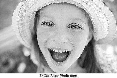 liitle の女の子, 幸せ, 肖像画