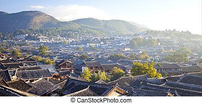 Lijiang old town at morning, China.