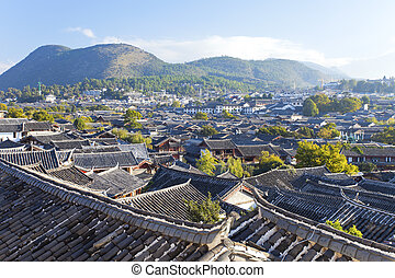Lijiang old town in the morning, the UNESCO world heritage...