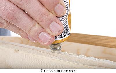 lijm, gereedschap, hand