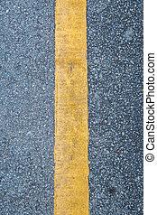 lijn, afsluiten, straat, gele, op