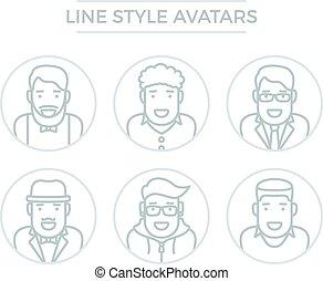 lijn,  avatars, Mensen