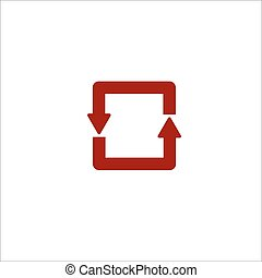 lijn, cirkel, pijl, gekleurde, pictogram