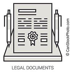 lijn, documenten, infographic., wettelijk