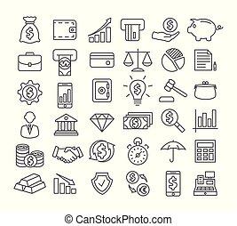 lijn, financiën, iconen